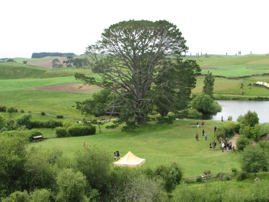 View from Bag End over the Party Tree and Field
