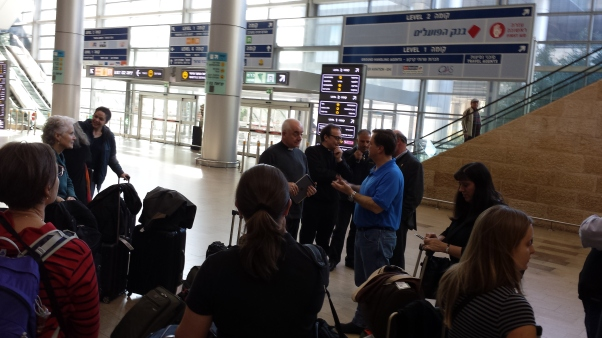 Gathering in Tel Aviv Airport.