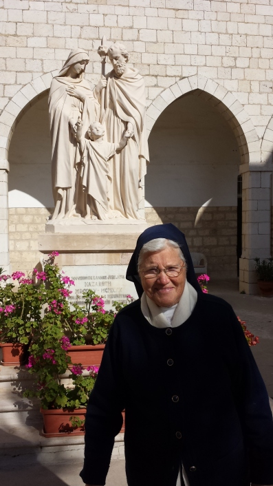 Sr. Margaret Bern at the convent of the Sisters of Nazareth