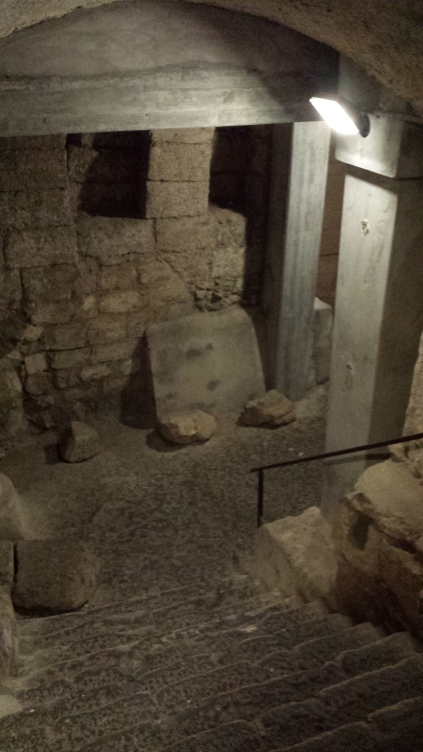 The Byzantine section meets the Crusader section of the site