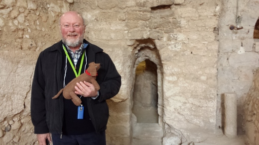 Me and Bishop Barry at the entrance of the first century childhood home of Jesus - the home of Joseph the Just