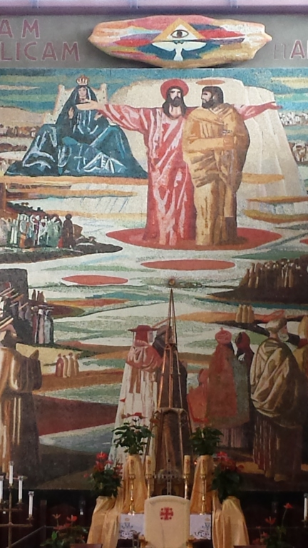 Painting above the altar in the Church of the Annunciation.