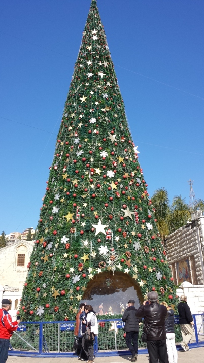 Christmas tree in Nazareth town center
