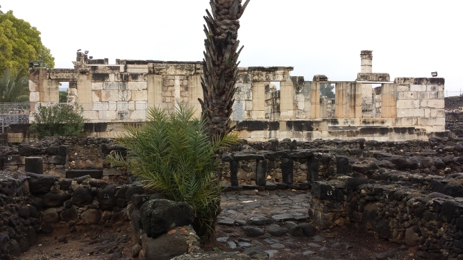 Underneath this Byzantine synagogue are the remains of a first century synagogue