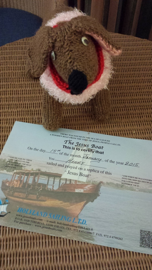 Each passenger on the boat received a certificate, even me!