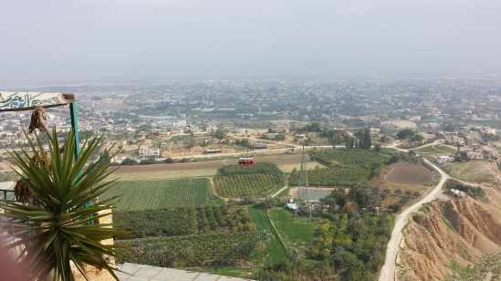 The view of Jericho from the top of Mt. Temptation.