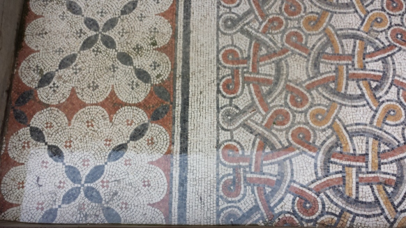 Remnant floor mosaics from Byzantine era.
