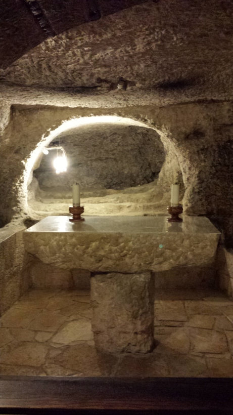 Area of the cave where St. Jerome worked in editing the canon of the  Christian Scriptures.