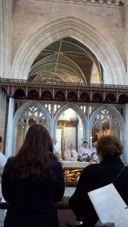The service at the Cathedral at St. George's.