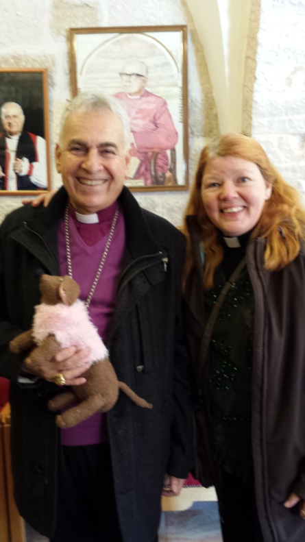 Rachel and I with Archbishop Sulheil.