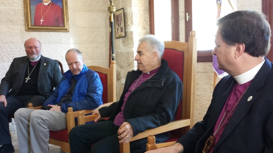 During our meeting with Bishop Sulheil.