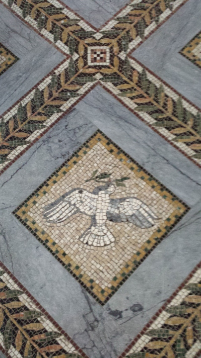 One of the many floor mosaics.