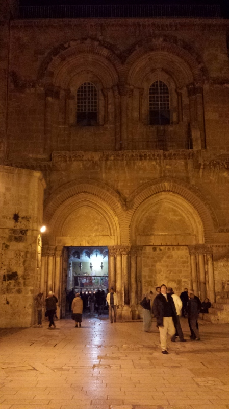 Entrance to the Holy Sepulcher