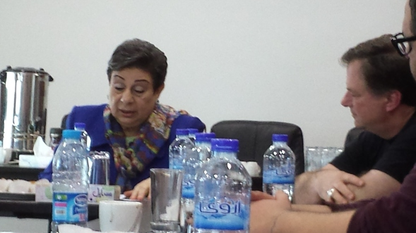 Dr. Hanan Ashrawi and Bishop Greg
