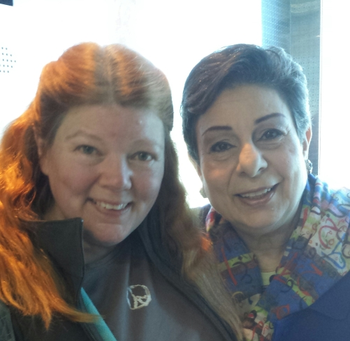 Getting on the elevator with Hanan Ashrawi - OMG!