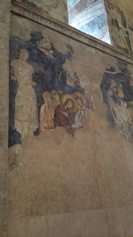 Fresco of Mary in the church