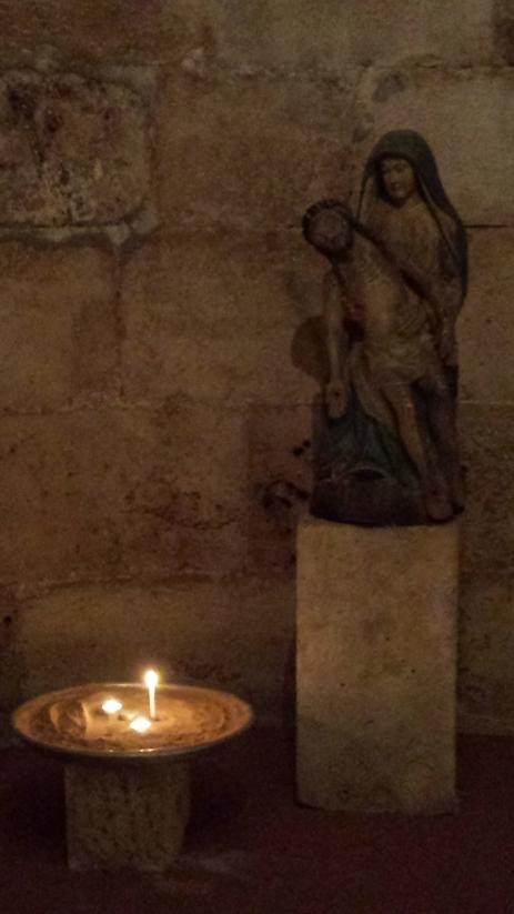 Under croft shrine to Mary